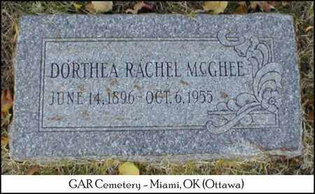 MCGHEE, DORTHEA RACHEL - Ottawa County, Oklahoma | DORTHEA RACHEL MCGHEE - Oklahoma Gravestone Photos