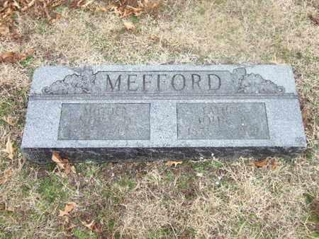 MEFFORD, NORA - Ottawa County, Oklahoma | NORA MEFFORD - Oklahoma Gravestone Photos