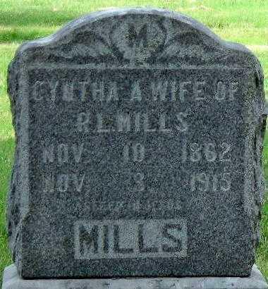 MILLS, CYNTHA A - Ottawa County, Oklahoma   CYNTHA A MILLS - Oklahoma Gravestone Photos