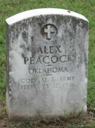 PEACOCK (VETERAN), ALEX - Ottawa County, Oklahoma   ALEX PEACOCK (VETERAN) - Oklahoma Gravestone Photos