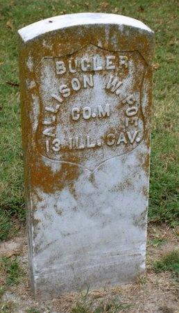 POE (VETERAN CW), ALLISON WOODROW - Ottawa County, Oklahoma   ALLISON WOODROW POE (VETERAN CW) - Oklahoma Gravestone Photos