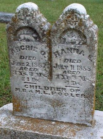 POOLER, HANNA E - Ottawa County, Oklahoma | HANNA E POOLER - Oklahoma Gravestone Photos