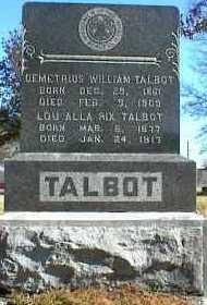RIX TALBOT, LOU ALLA - Ottawa County, Oklahoma   LOU ALLA RIX TALBOT - Oklahoma Gravestone Photos