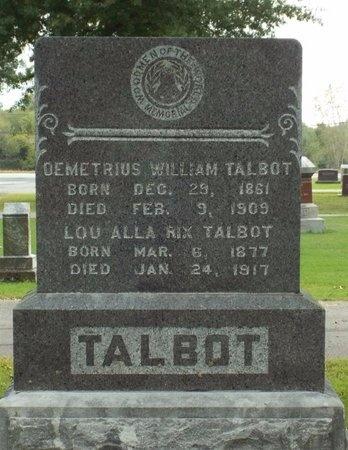 RIX TALBOT, LOU ALLA - Ottawa County, Oklahoma | LOU ALLA RIX TALBOT - Oklahoma Gravestone Photos