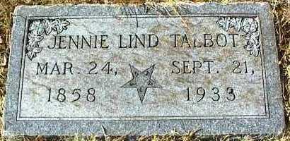 LIND TALBOT, JENNIE - Ottawa County, Oklahoma   JENNIE LIND TALBOT - Oklahoma Gravestone Photos