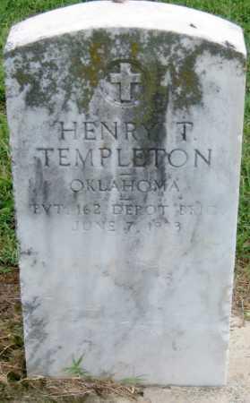 TEMPLETON (VETERAN), HENRY T - Ottawa County, Oklahoma   HENRY T TEMPLETON (VETERAN) - Oklahoma Gravestone Photos