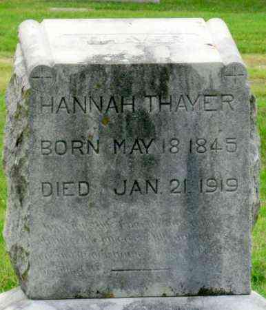THAYER, HANNAH - Ottawa County, Oklahoma   HANNAH THAYER - Oklahoma Gravestone Photos