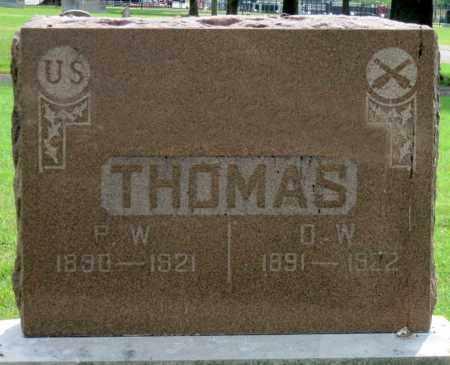 THOMAS, D W - Ottawa County, Oklahoma | D W THOMAS - Oklahoma Gravestone Photos