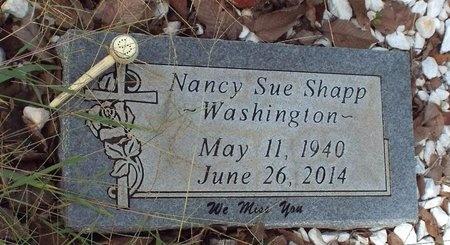 SHAPP WASHINGTON, NANCY SUE - Ottawa County, Oklahoma   NANCY SUE SHAPP WASHINGTON - Oklahoma Gravestone Photos