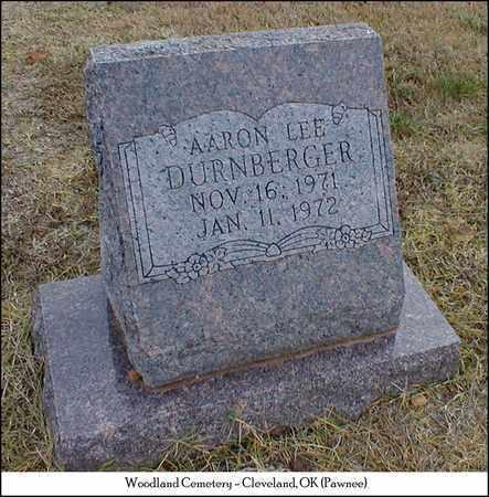 DURNBERGER, AARON LEE - Pawnee County, Oklahoma   AARON LEE DURNBERGER - Oklahoma Gravestone Photos