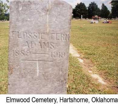 SMALLWOOD ADAMS, FLOSSIE FERN - Pittsburg County, Oklahoma | FLOSSIE FERN SMALLWOOD ADAMS - Oklahoma Gravestone Photos