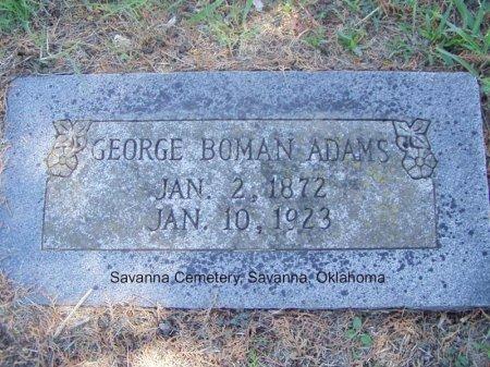 ADAMS, GEORGE BOWMAN - Pittsburg County, Oklahoma | GEORGE BOWMAN ADAMS - Oklahoma Gravestone Photos