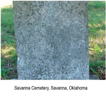 ADAMS, JOHN HENRY - Pittsburg County, Oklahoma   JOHN HENRY ADAMS - Oklahoma Gravestone Photos