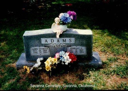 ADAMS, GEORGIA LEONA - Pittsburg County, Oklahoma | GEORGIA LEONA ADAMS - Oklahoma Gravestone Photos