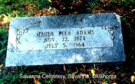 BECK ADAMS, MAUDE ELLA - Pittsburg County, Oklahoma | MAUDE ELLA BECK ADAMS - Oklahoma Gravestone Photos