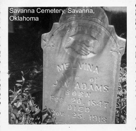 ADAMS, MELVINA - Pittsburg County, Oklahoma | MELVINA ADAMS - Oklahoma Gravestone Photos