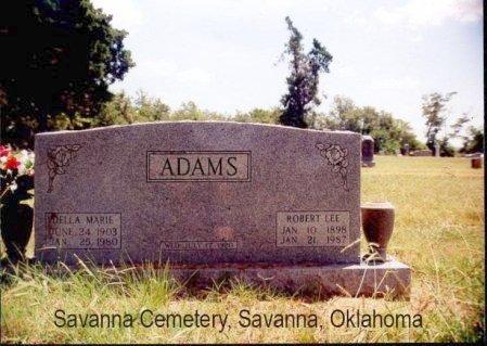 ADAMS, ROBERT LEE - Pittsburg County, Oklahoma   ROBERT LEE ADAMS - Oklahoma Gravestone Photos