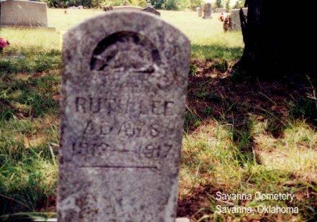 ADAMS, RUTH LEE - Pittsburg County, Oklahoma | RUTH LEE ADAMS - Oklahoma Gravestone Photos