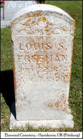 FREEMAN, LOUIS STANFORD - Pittsburg County, Oklahoma | LOUIS STANFORD FREEMAN - Oklahoma Gravestone Photos