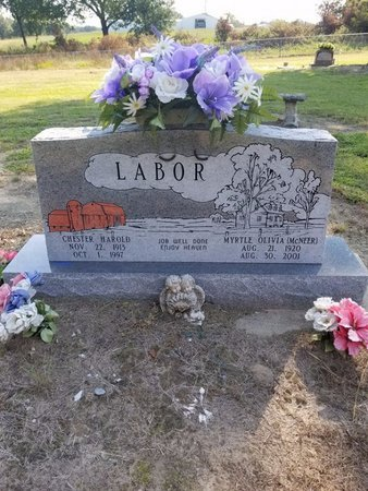 MCNEER LABOR, MYRTLE OLIVIA - Pittsburg County, Oklahoma | MYRTLE OLIVIA MCNEER LABOR - Oklahoma Gravestone Photos