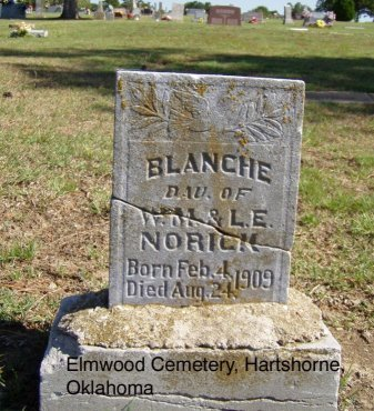 NORICK, BLANCHE - Pittsburg County, Oklahoma | BLANCHE NORICK - Oklahoma Gravestone Photos