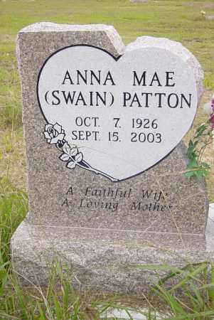 SWAIN PATTON, ANNA MAE - Pittsburg County, Oklahoma | ANNA MAE SWAIN PATTON - Oklahoma Gravestone Photos