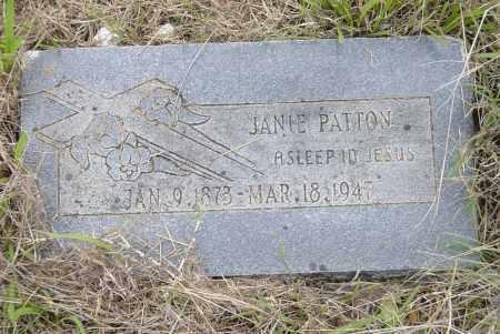 PATTON, JANIE MARY - Pittsburg County, Oklahoma | JANIE MARY PATTON - Oklahoma Gravestone Photos