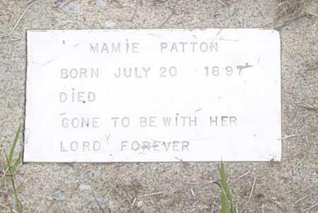 PATTON, MAMIE - Pittsburg County, Oklahoma | MAMIE PATTON - Oklahoma Gravestone Photos