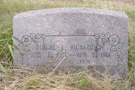 RICHARDSON, BLACHE LEE - Pittsburg County, Oklahoma | BLACHE LEE RICHARDSON - Oklahoma Gravestone Photos