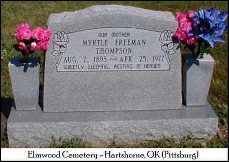 ROBINSON THOMPSON, TABATHA MARY (MYRTLE) - Pittsburg County, Oklahoma | TABATHA MARY (MYRTLE) ROBINSON THOMPSON - Oklahoma Gravestone Photos