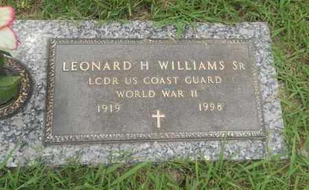 WILLIAMS SR (VETERAN WWII), LEONARD HARRISON - Pittsburg County, Oklahoma | LEONARD HARRISON WILLIAMS SR (VETERAN WWII) - Oklahoma Gravestone Photos