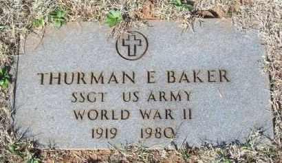 BAKER, THURMAN E. - Pontotoc County, Oklahoma   THURMAN E. BAKER - Oklahoma Gravestone Photos