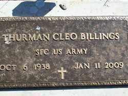 BILLINGS, THURMAN CLEO - Pontotoc County, Oklahoma | THURMAN CLEO BILLINGS - Oklahoma Gravestone Photos