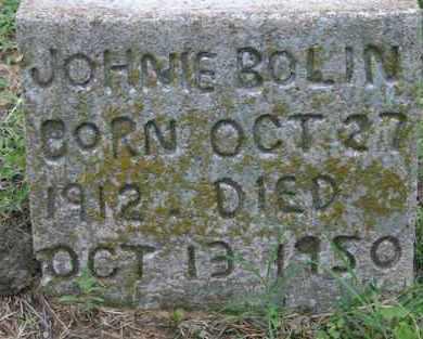 BOLIN, JOHNIE - Pontotoc County, Oklahoma   JOHNIE BOLIN - Oklahoma Gravestone Photos