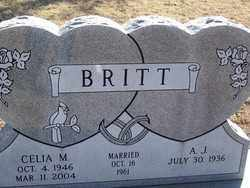 BRITT, CELIA M. - Pontotoc County, Oklahoma | CELIA M. BRITT - Oklahoma Gravestone Photos