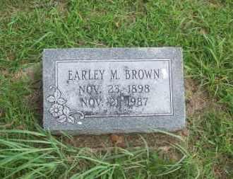 BROWN, EARLEY M. - Pontotoc County, Oklahoma | EARLEY M. BROWN - Oklahoma Gravestone Photos