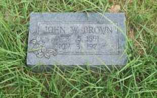 BROWN, JOHN W. - Pontotoc County, Oklahoma   JOHN W. BROWN - Oklahoma Gravestone Photos
