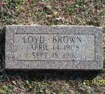 BROWN, LOYD - Pontotoc County, Oklahoma | LOYD BROWN - Oklahoma Gravestone Photos