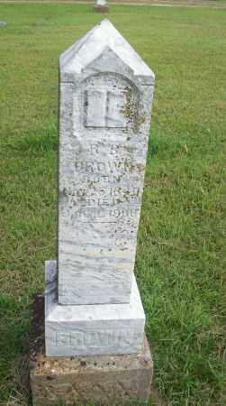 BROWN, R.B. - Pontotoc County, Oklahoma   R.B. BROWN - Oklahoma Gravestone Photos