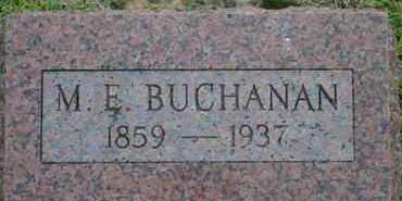 BUCHANAN, M.E. - Pontotoc County, Oklahoma   M.E. BUCHANAN - Oklahoma Gravestone Photos