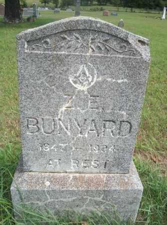 BUNYARD, Z.E. - Pontotoc County, Oklahoma | Z.E. BUNYARD - Oklahoma Gravestone Photos