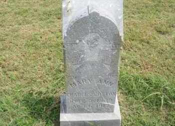 COTTON, MARY ANN - Pontotoc County, Oklahoma | MARY ANN COTTON - Oklahoma Gravestone Photos