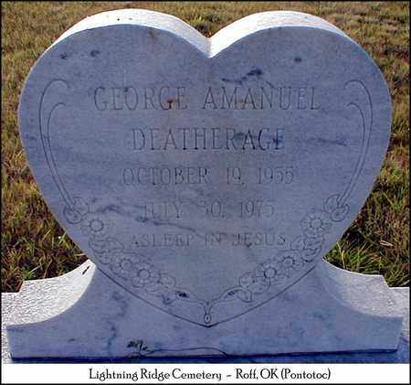 DEATHERAGE, GEORGE AMANUEL - Pontotoc County, Oklahoma | GEORGE AMANUEL DEATHERAGE - Oklahoma Gravestone Photos