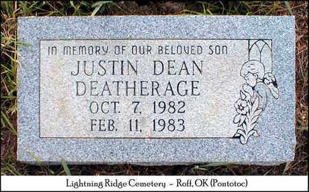 DEATHERAGE, JUSTIN DEAN - Pontotoc County, Oklahoma | JUSTIN DEAN DEATHERAGE - Oklahoma Gravestone Photos