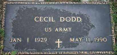 DODD, CECIL   US ARMY - Pontotoc County, Oklahoma | CECIL   US ARMY DODD - Oklahoma Gravestone Photos