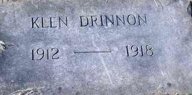 DRINNON, KLEN - Pontotoc County, Oklahoma   KLEN DRINNON - Oklahoma Gravestone Photos