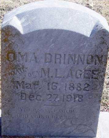 DRINNON, OMA - Pontotoc County, Oklahoma | OMA DRINNON - Oklahoma Gravestone Photos