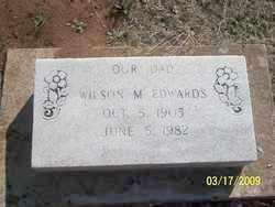 EDWARDS, WILSON M. - Pontotoc County, Oklahoma   WILSON M. EDWARDS - Oklahoma Gravestone Photos
