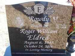 "ELDRED, ROGER WILLIAM ""ROWDY"" - Pontotoc County, Oklahoma 