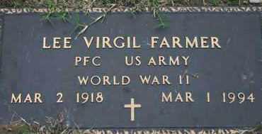 FARMER, LEE V.   US ARMY - Pontotoc County, Oklahoma | LEE V.   US ARMY FARMER - Oklahoma Gravestone Photos